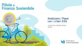 Pillole di finanza sostenibile<br>Analizzare i Paesi con i criteri ESG