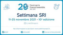 Finanza sostenibile per la giusta transizione: dall'11 al 25 torna la Settimana SRI